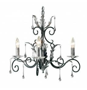 Żyrandol Amarilli AML3 BLK/SIL Elstead Lighting czarno-srebrna oprawa w klasycznym stylu