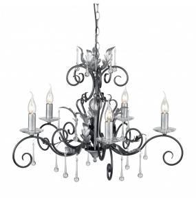 Żyrandol Amarilli AML5 BLK/SIL Elstead Lighting czarno-srebrna oprawa w klasycznym stylu