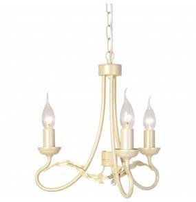 Lampa wisząca Olivia OV3 IV/GLD Elstead Lighting rustykalna oprawa w kolorze kości słoniowej
