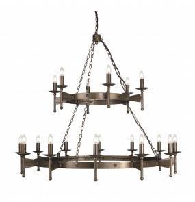 Żyrandol Cromwell CW18 Elstead Lighting brązowa oprawa w klasycznym stylu