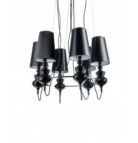 ŻARÓWKI LED GRATIS! Lampa wisząca Baroco 6 AZ1379 AZzardo czarna oprawa w klasycznym stylu