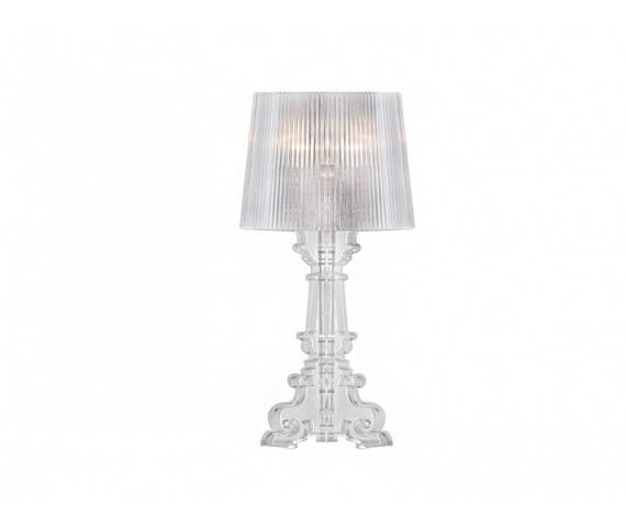 ŻARÓWKA LED GRATIS! Lampa stołowa Bella AZ0072 AZzardo transparentna oprawa w stylu design
