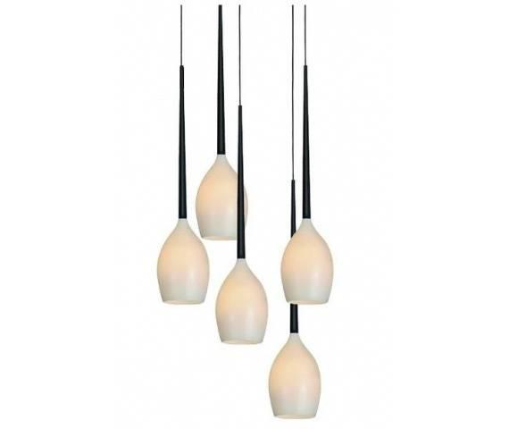 ŻARÓWKI LED GRATIS! Lampa wisząca Izza 5 AZ0311 AZzardo biała oprawa w nowoczesnym stylu