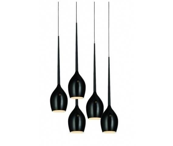 ŻARÓWKI LED GRATIS! Lampa wisząca Izza 5 AZ0312 AZzardo czarna oprawa w nowoczesnym stylu