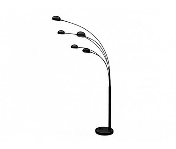 ŻARÓWKI LED GRATIS! Lampa podłogowa Palp AZ0018 AZzardo designerska oprawa w kolorze czarnym