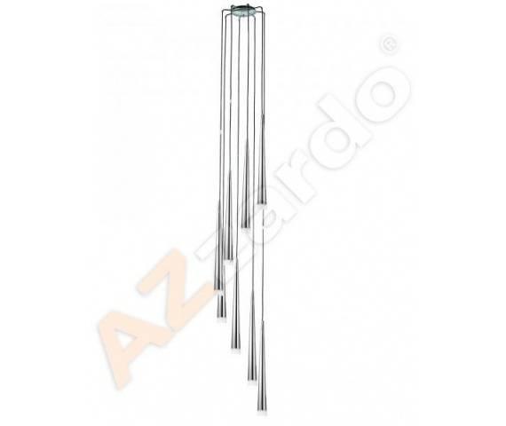 Lampa wisząca Stylo 8 AZ0257 AZzardo chromowana oprawa w stylu design