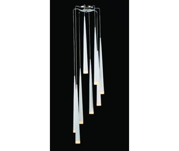 Lampa wisząca Stylo 8 AZ0209 AZzardo biała oprawa w stylu design