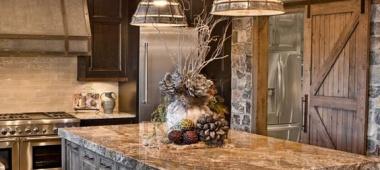 Oświetlenie kuchni w rustykalnym stylu