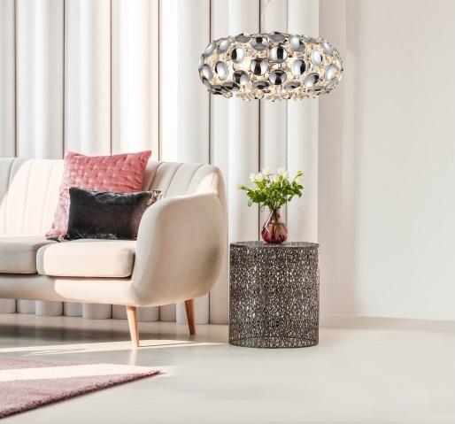 Современный хромированный подвесной светильник Ferrara от Light Prestige